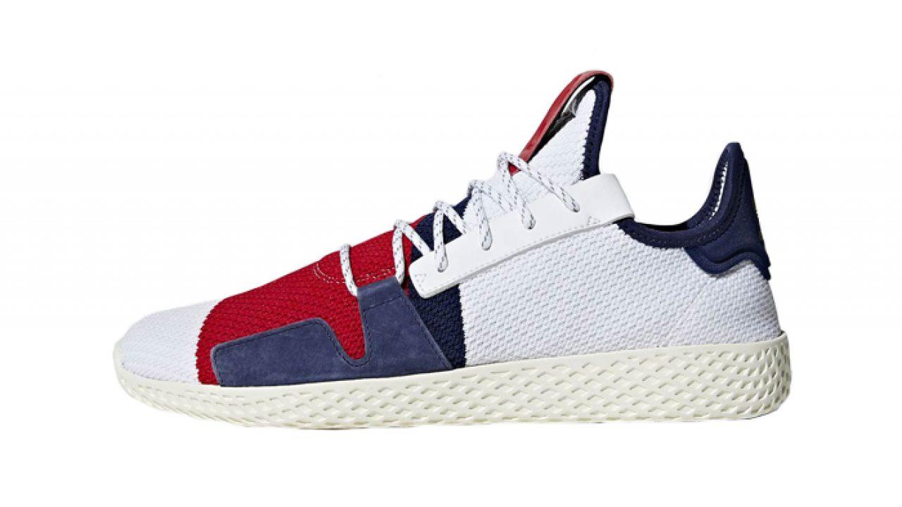 timeless design 6e1c3 20a1a Pharrell Williams adidas Tennis Hu BBC White Multi BB9459