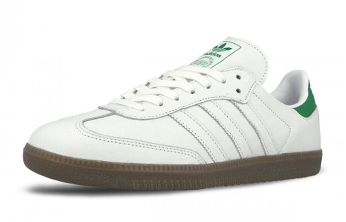 5eeb6df4a9 ... adidas Samba White Green D96783 02 ...