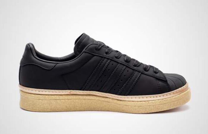 san francisco 07129 aa33f adidas Superstar 80s New Bold Black Womens B28041