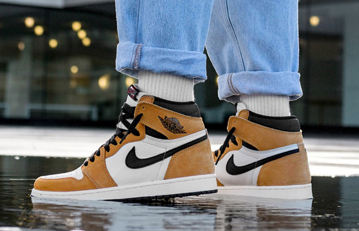 various colors a few days away get new Air Jordan 1 High OG Rookie of the Year Gold Black 555088-700