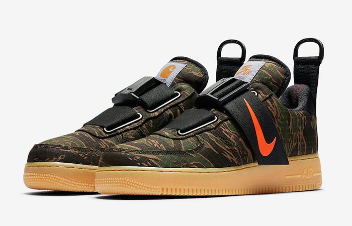 Carhartt Nike Air Force 1 Low Utility Camo Green 03
