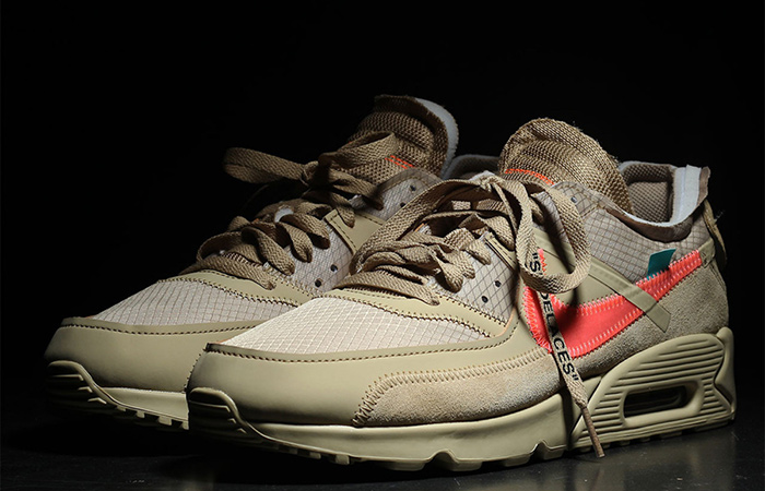 Closer Look At The Off-White Nike Air Max 90 Desert Ore ft