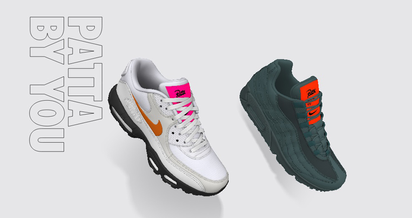 the best attitude 510f8 791af Customizable Nike Air Max By Patta 02