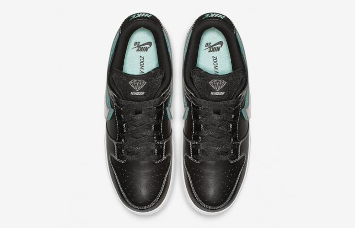 2ff9d9412a ... Diamond Supply Co Nike SB Dunk Low Black BV1310-001 03 ...
