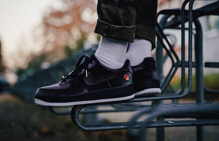Nike Air Force 1 Low Black Velvet AH8462 003