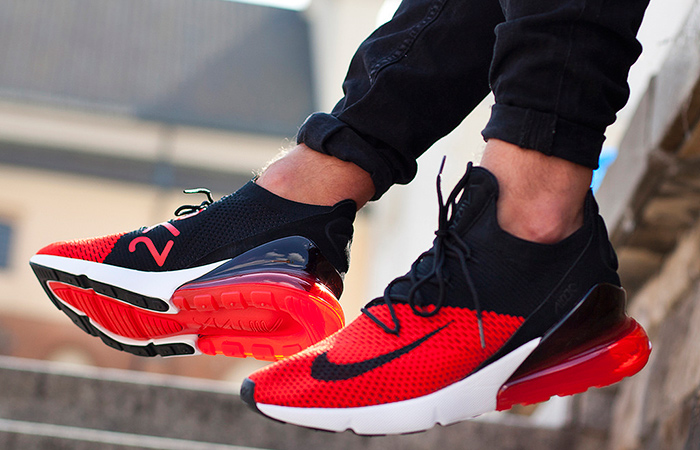 the latest 7f05d d7eda Nike Air Max 270 Flyknit Red Black AO1023-601