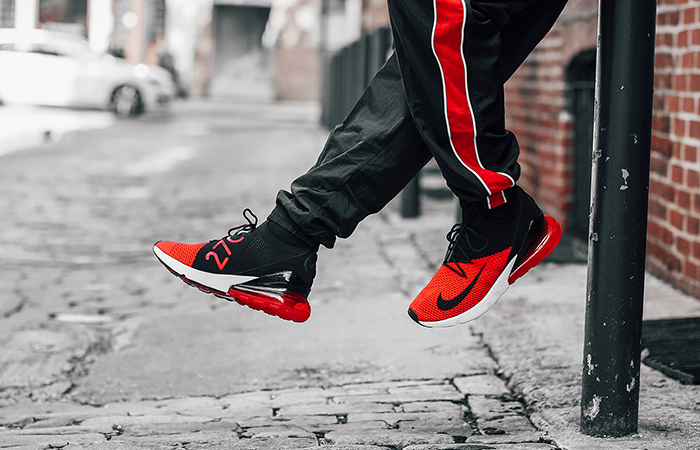 the latest c609a d8be1 Nike Air Max 270 Flyknit Red Black AO1023-601