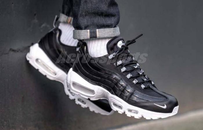 size 40 13074 2a517 Nike Air Max 95 Premium Black White 538416-020