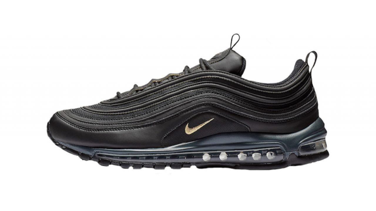 771588e74e9 Nike Air Max 97 Black Gold Footlocker Exclusive BQ4580-001