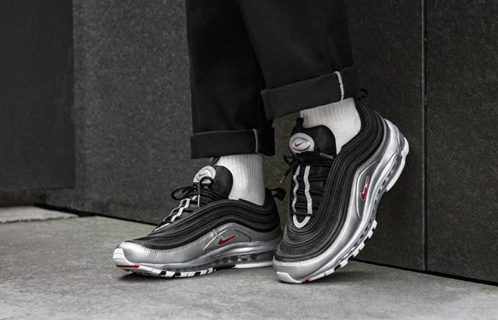 Nike Air Max 97 QS White Metallic Silver AT5458 100 | KicksCrew