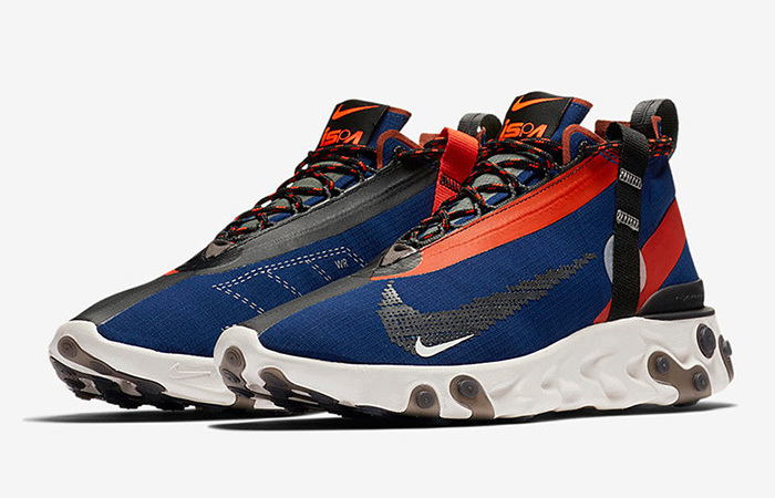 Nike React SP Mid ISPA Navy Red AT3143-400 03