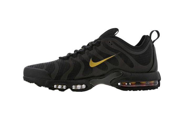 online store 05152 354cf Nike TN Air Max Plus Ultra Black Gold Footlocker Exclusive BQ5780-001