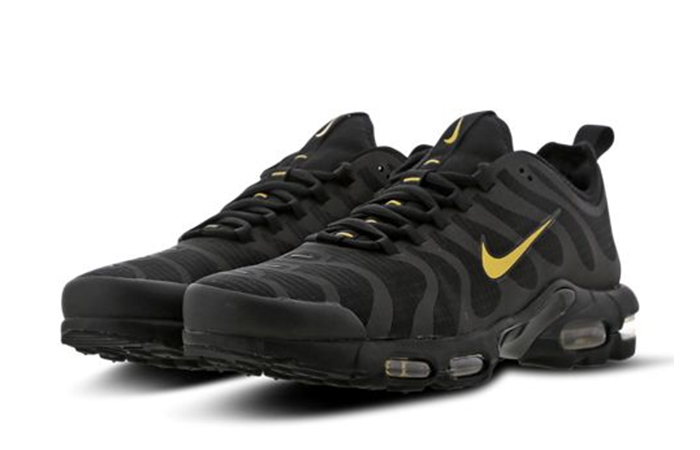 online store de8d2 612cc Nike TN Air Max Plus Ultra Black Gold Footlocker Exclusive BQ5780-001