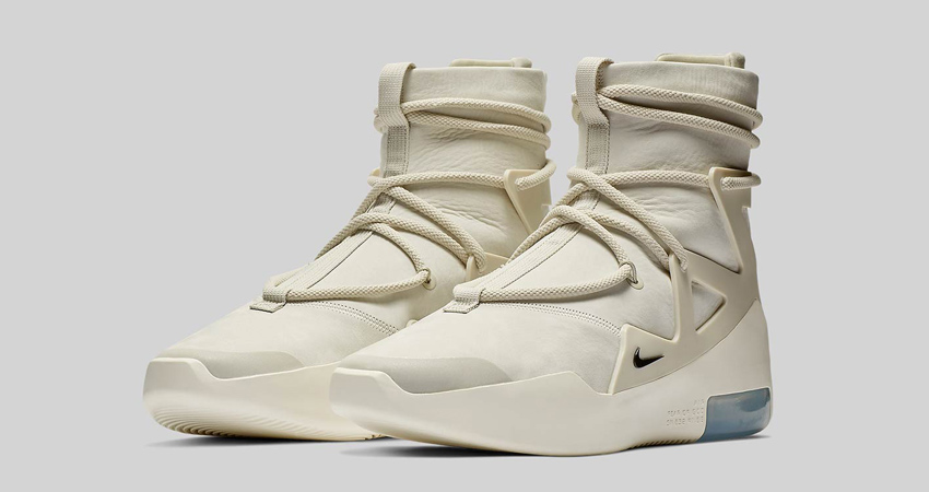 new concept 0b79b 4ea65 Official Look At The Nike Air Fear Of God 1 Light Bone Black 01