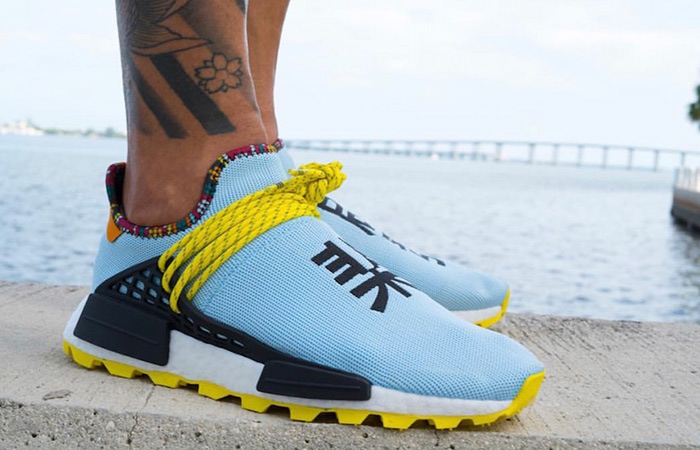 Pharrell Williams adidas NMD Hu Inspiration Pack Blue EE7581