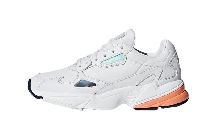 adidas Falcon White Orange Womens