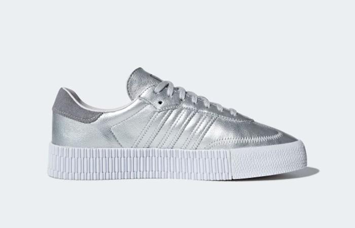 size 40 b6c31 95800 ... adidas Sambarose Silver Womens D96769 03 ...