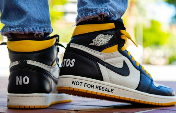 new concept 439e5 0ff71 Air Jordan 1 Retro High OG Not For Resale Yellow 861428-107