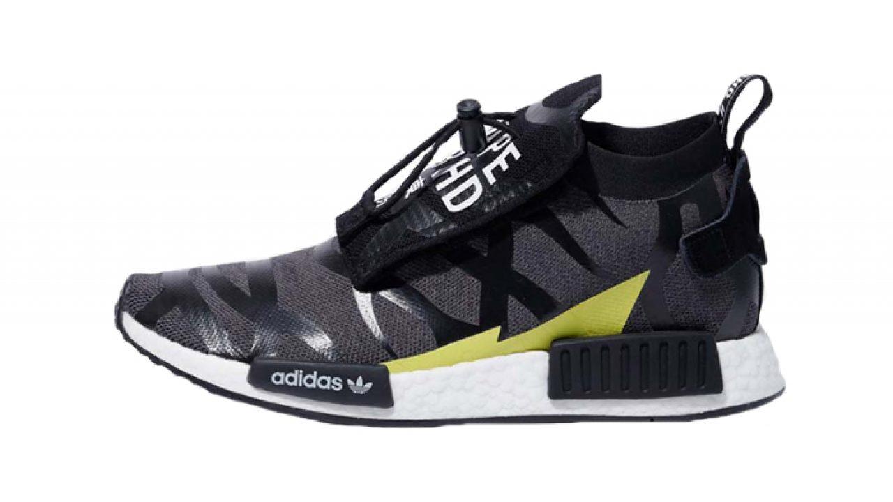 finest selection 6c92f 337e1 BAPE NEIGHBORHOOD adidas NMD STLT Black EE9702