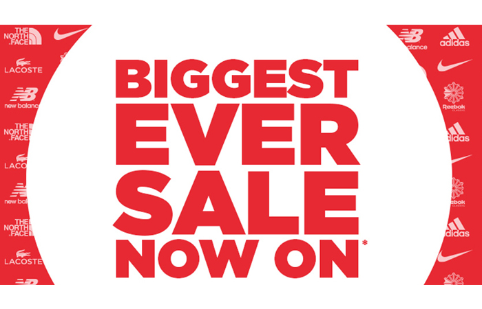 JD Sports Biggest Sale Ever with Code PR20 ft