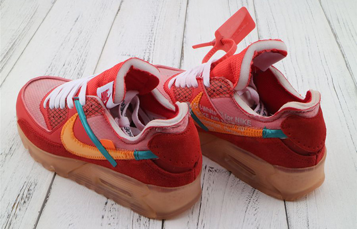 nike air max 90 off white university red