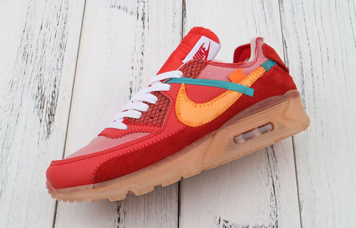 nike air max 90 off white red