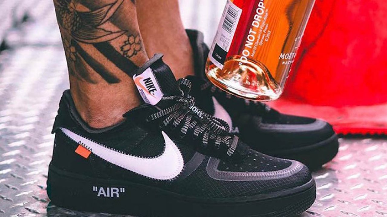 off white x nike air force 1 black release date