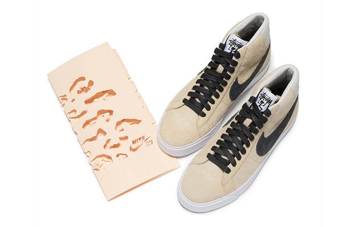 factory authentic ddf9e e3b60 Stussy Nike SB Blazer Gold Black AH6158-700
