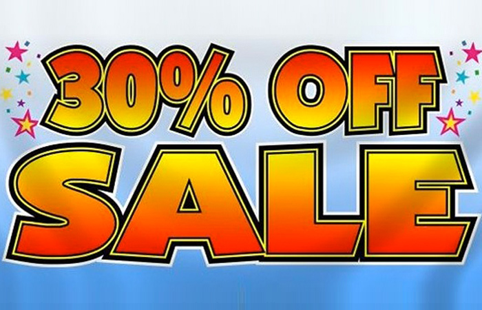 Up to 30% off in the End of Season Sale ft