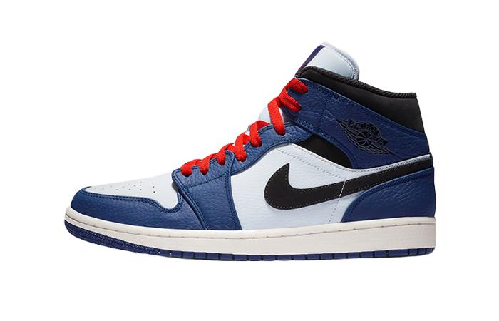 Air Jordan 1 Mid Deep Royal Blue 852542-400 01