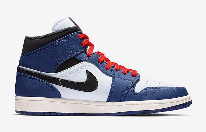 Air Jordan 1 Mid Deep Royal Blue 852542-400 02