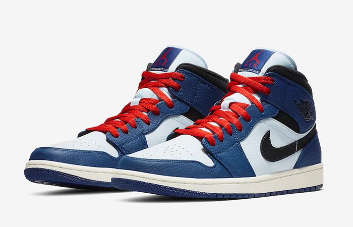 Air Jordan 1 Mid Deep Royal Blue 852542-400 03