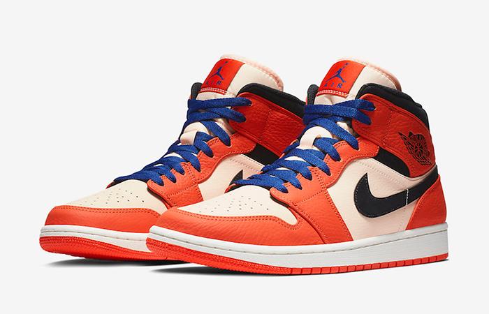 Air Jordan 1 Mid Team Orange 852542-800 03