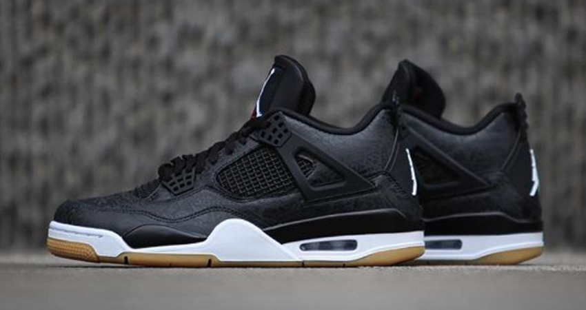 Air Jordan 4 SE Laser Black Gum Detailed Look 01
