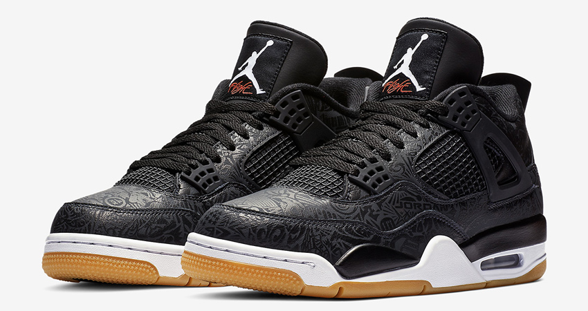 Air Jordan 4 SE Laser Black Gum Detailed Look 03