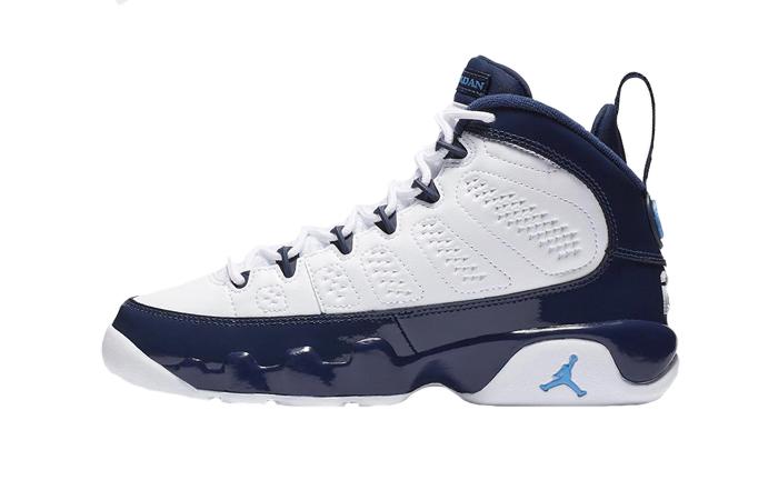 Air Jordan 9 Retro UNC Pearl Blue 302370-145 01