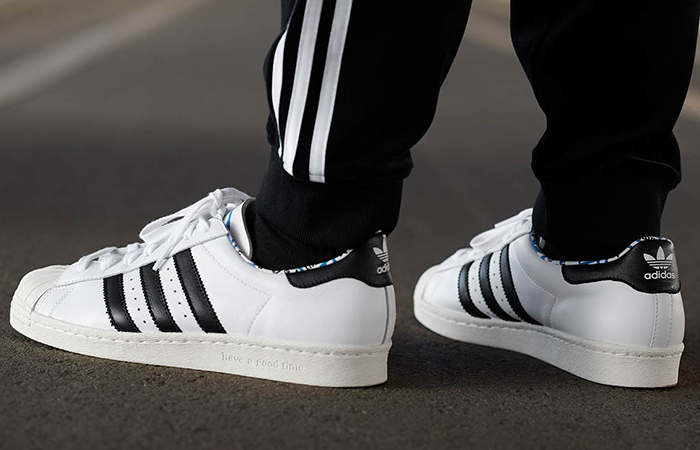 Have A Good Time adidas Superstar 80s White Black G54786 03