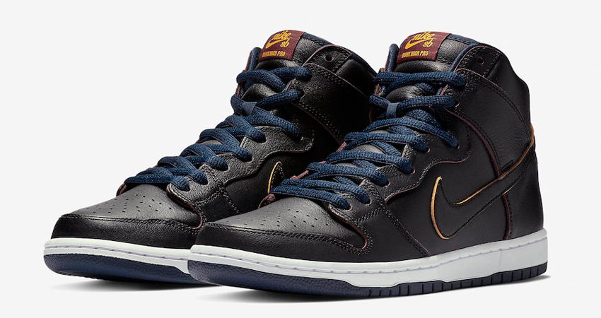 NBA x Nike SB Dunk High Cleveland Cavaliers in Details 01