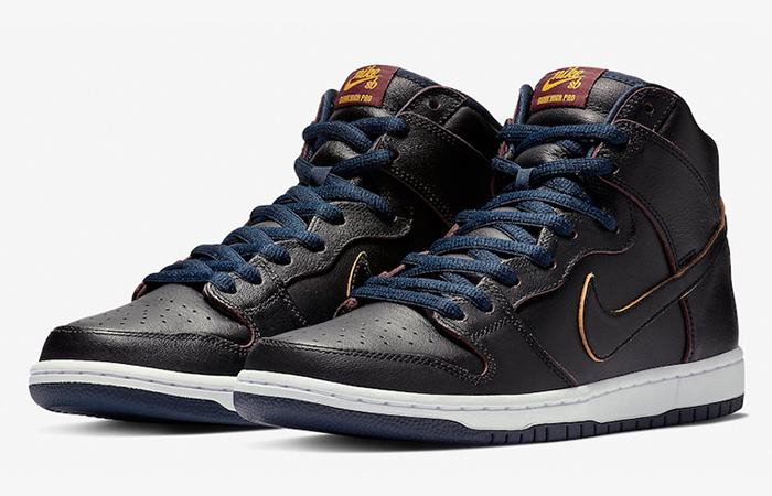 NBA x Nike SB Dunk High Cleveland Cavaliers in Details ft