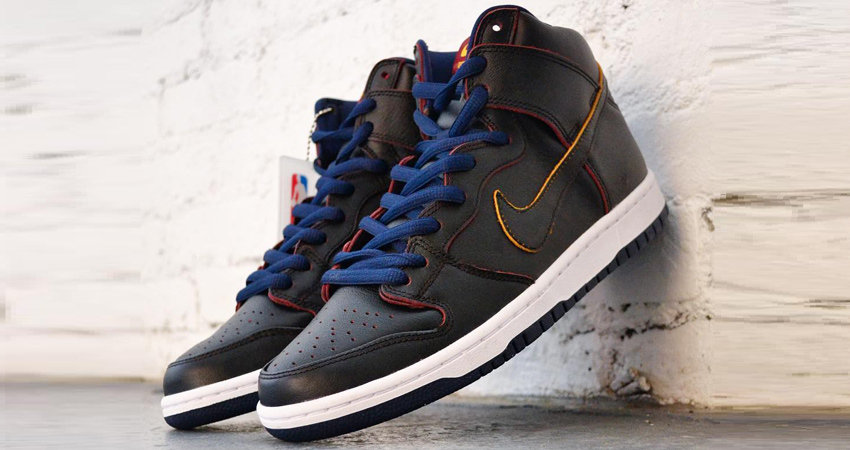 pretty nice ea173 5fe47 NBA x Nike SB Dunk High Pro Cleveland Cavaliers Release Date ...