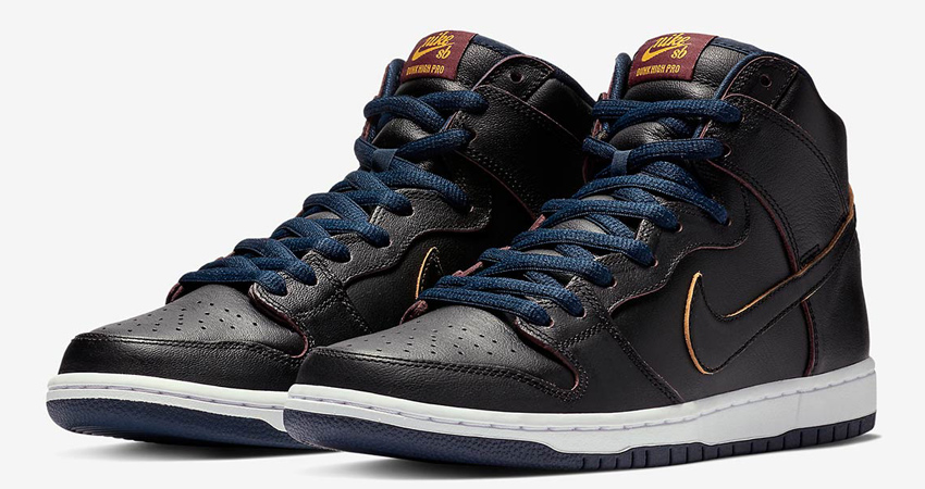new arrival 013d8 6858f NBA x Nike SB Dunk High Pro Cleveland Cavaliers Release Date 03