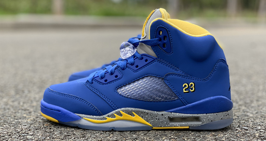 Nike Air Jordan 5 Laney Varsity Royal Closer Look 01