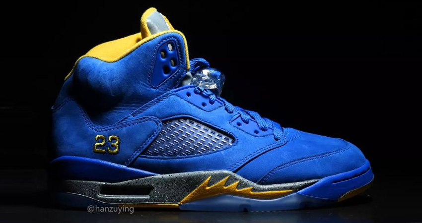 Nike Air Jordan 5 Laney Varsity Royal Closer Look 02