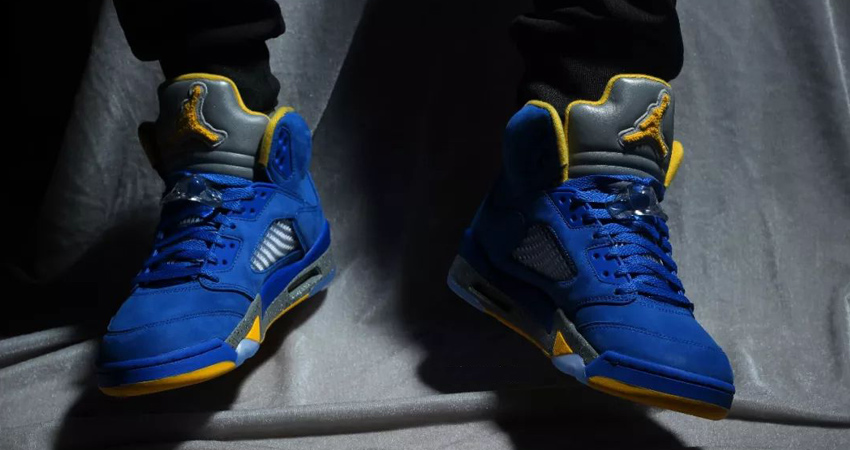 Nike Air Jordan 5 Laney Varsity Royal Closer Look 03