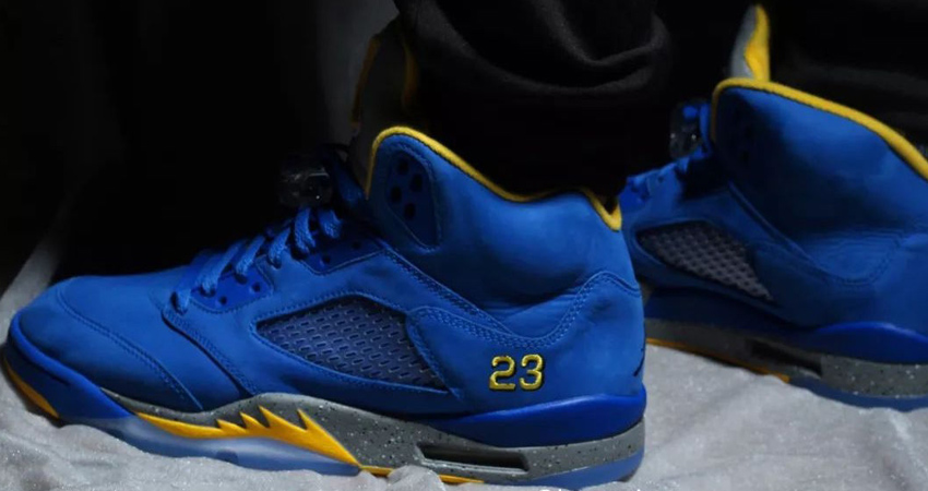 Nike Air Jordan 5 Laney Varsity Royal Closer Look 04