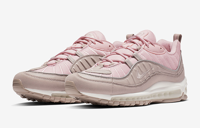 timeless design 2dc0e 27227 Nike Air Max 98 Pink Pumice Womens 640744-200