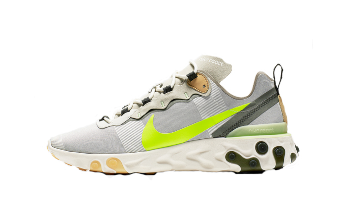 Nike React Element 55 Grey Volt BQ6166-009 01