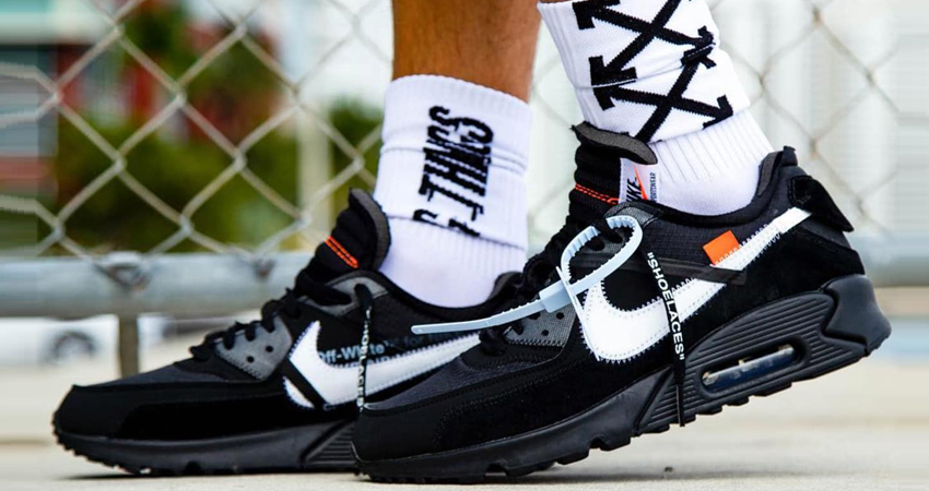 Buy Cheap Nike Off White X Nike Air Max 90 Running Shoes Fake Sale