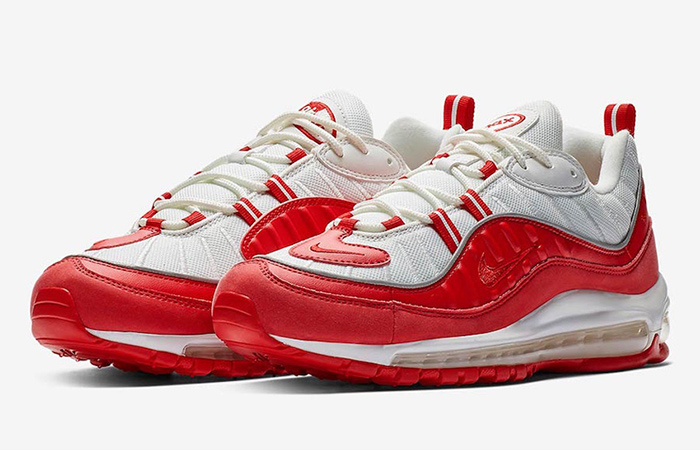 Release Date Confirmed for Nike Air Max 98 University Red ft
