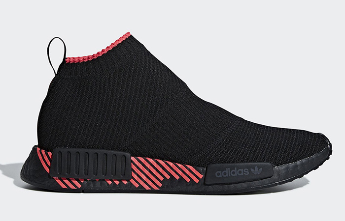 adidas NMD City Sock Colour Block in Black ft